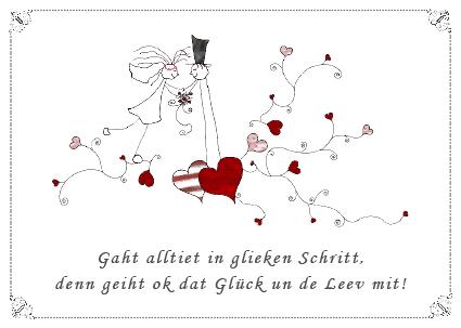 Plattdeutsche Hochzeitskarten Website Der Firma Luett Stina